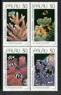 PALAU 1991 Hard Corals. Block of 4. - 50556 - UHM