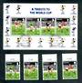 GIBRALTAR 1996 European Cup Football Championships.Set of 4 and miniature sheet. - 50604 - CTO