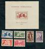 FRENCH EQUATORIAL AFRICA 1937 International Exhibition. Set of 6 and miniature sheet. - 50618 - LHM