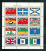 CANADA 1979 Canada Day Flags. Sheetlet of 12. Sheetlet hinged but stamps untouched. - 50623 - UHM