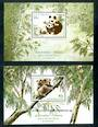 AUSTRALIA 1995 Joint issue with China. Endangered Species. Set of 2 miniature sheets. - 50632 - UHM