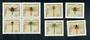 WEST GERMANY 1991 Dragonflies. Set of 8 including the block of 4. - 50667 - UHM