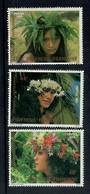 FRENCH POLYNESIA 1983 Floral Headdresses. First series. Set of 3. - 50673 - UHM