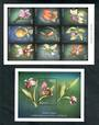 LESOTHO 1999 Orchids. Sheet of 9 and miniature sheet. - 50698 - UHM