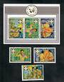 AITUTAKI 1983 75th Anniversary of the Boy Scout Movement. Set of 3 and miniature sheet. - 50804 - UHM