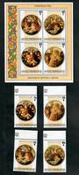 COOK ISLANDS 1985 Christmas. Set of 4 and miniature sheet. - 50818 - UHM