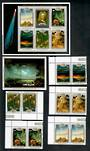 COOK ISLANDS 1986 Appearance of Halley's Comet. Set of 5 and 2 miniature sheets. - 50823 - UHM