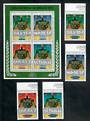 AITUTAKI 1984 Olympics. Set of 4 and miniature sheet. - 50828 - UHM