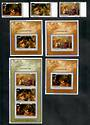 PENRHYN 1985 Christmas. Set of 3 and 3 miniature sheets and miniature sheet. - 50844 - UHM