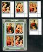 PENRHYN 1983 Christmas. Set of 4 and miniature sheet. - 50845 - UHM