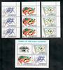 PENRHYN 1984 Olympics. Set of 3 and miniature sheet. - 50847 - UHM