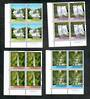 NEW ZEALAND 1976 Waterfalls. Set of 4 in Plate Blocks of 4. - 50857 - UHM