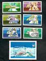 EAST GERMANY 1975 Winter Olympics. Set of 6 and miniature sheet. - 50858 - UHM