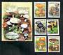 TOGO 1999 Fungi. Set of 6 and miniature sheet. - 50873 - CTO