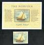 NORFOLK ISLAND 1998 Bicentenary of the Circumnavigation of Tasmania. Single and miniature sheet. - 50881 - UHM
