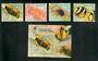VANUATU 1994 Anemonefish. Set of 4 and miniature sheet. - 50905 - UHM