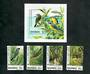 BAHAMAS 995 Environmental Protection. Third series. Set of 4 and miniature sheet. - 50910 - UHM
