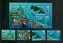VANUATU 1997 Diving. Set of 4 and miniature sheet. - 50913 - UHM