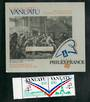 VANUATU 1989 PhilexFrance '89 International Stamp Exhibition. Set of 2 and miniature sheet. - 50937 - UHM