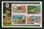 COOK ISLANDS 1974 Centenary of the Universal Postal Union. Set of 4 and miniature sheet. - 50953 - UHM