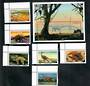 GAMBIA 1997 Dinosaurs. Set of 6 and miniature sheet. Incomplete. - 50969 - UHM