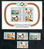 SAMOA 1984 Olympics. Set of 4 and miniature sheet. - 50996 - UHM
