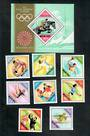HUNGARY 1972 Olympics. Second series. Set of 8 and miniature sheet. - 50998 - UHM