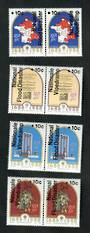 SOUTH AFRICA 1988 National Flood Relief Fund. Set of 8 in joined pairs. - 51039 - UHM