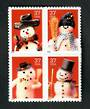 USA 2002 Christmas. Self Adhesive. Block of 4. - 51056 - UHM