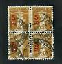 SWITZERLAND 1921 Definitive Surcharge 5c on 3c Ochre. Block of 4. Cancel Lausanne Gare. - 51086 - Used