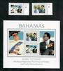 BAHAMAS 1981 Royal Wedding of Prince Charles and Lady Diana Spencer. Set of 2 and miniature sheet. - 51114 - UHM