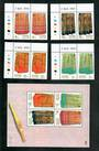 THAILAND 1999 Heritage Conservation. Set of 4 and miniature sheet. - 51123 - UHM