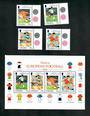 GIBRALTAR 1998 World Cup Football Championships. Set of 4 and miniature sheet. - 51137 - UHM