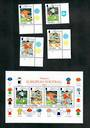 GIBRALTAR 1998 World Cup Football Championships. Set of 4 and miniature sheet. - 51138 - CTO