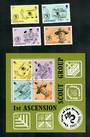 ASCENSION 1982 75th Anniversary of the Boy Scouts. Set of 4 and miniature sheet. - 51139 - VFU