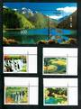 CHINA 1998 World Heritage Site. JiuzHaigau Nine Village Valley. Set of 4 and miniature sheet. - 51143 - UHM