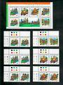 HONG KONG CHINA 1999 Joint Issue with Singapore. Set of 6 and miniature sheet. - 51151 - UHM