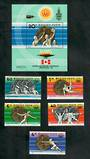 HUNGARY 1976 Olympic Medal Winners of Hungary. Set of 5 and miniature sheet. - 51153 - UHM