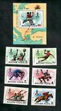 HUNGARY 1980 Olympic Games Moscow. Second series. Set of 7 and miniature sheet. - 51157 - UHM