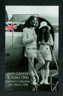 GIBRALTAR 1999 30th Wedding Anniversary of John Lennon and Yoko Ono. Set of 3 and 2 miniature sheets. - 51178 - VFU