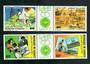 DJIBOUTI 1985 Lome '85. Set of 4 in joined pairs. - 51199 - UHM