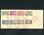 PITCAIRN ISLANDS 1940 Geo 6th Definitives. Set of 8 on first day cover 15/10/1940. - 51985 - FDC