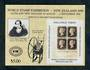 NEW ZEALAND 1990 World Stamp Exhibition. Penny Black miniature sheet. - 52008 - UHM