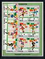PENRHYN 1982 World Cup Football Championship. Set of 9 in strips of 3 and the miniature sheet. - 52031 - VFU