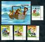 TURKS & CAICOS ISLANDS 1981 Walt Disney Characters. Set of 4 and miniature sheet. - 52040 - UHM