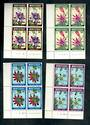 MONTSERRAT 1973 Easter Pasiion-Flowers. Set of 4 in plate blocks of 4. - 52120 - UHM