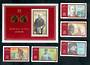 EAST GERMANY 1970 Centenary of the Birth of Lenin. Set of 5 and miniature sheet. - 52163 - UHM