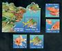 PITCAIRN ISLANDS 2003 Squirrel Fish. Set of 4 and miniature sheet. - 52179 - UHM