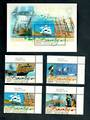 PITCAIRN ISLANDS 2004 Bounty Replica. Set of 4 and miniature sheet. Face $9.40. - 52188 - UHM