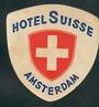 Hotel Luggage Label Hotel Suisse Amsterdam. - 52313 -